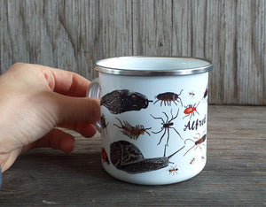 Personalised Enamel Mugs by Alice Draws The Line
