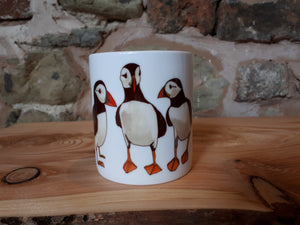 Puffin mug by Alice Draws The Line, a China mug for the home, with illustrations by Alice Draws The Line