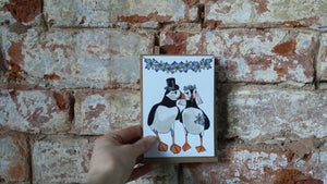 Puffin Wedding Card by Alice Draws The Line