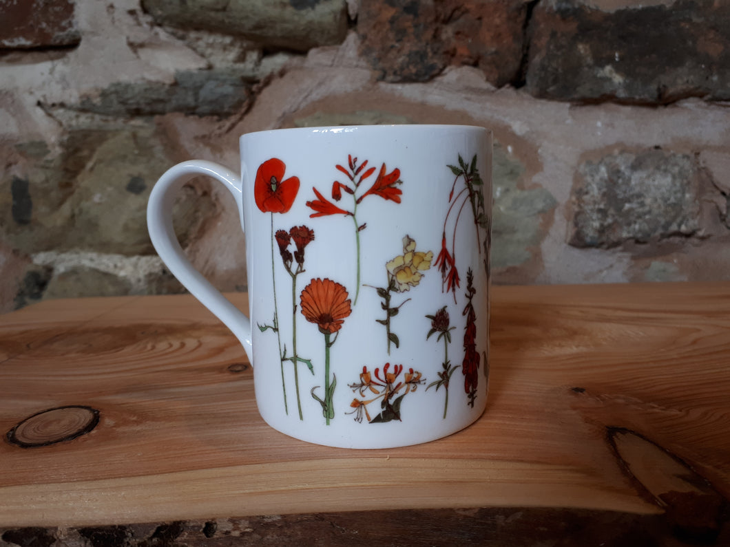Rainbow Flowers China mug by Alice Draws The Line