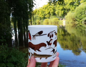 China River Mug by Alice Draws The Line, River Severn, Rivers Project, River species mug
