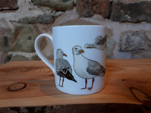 Seagulls / Herring Gull china mug by Alice Draws the Line