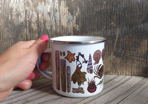 Seaside Enamel mug by Alice Draws The Line