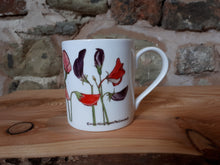Load image into Gallery viewer, Sweet Peas China Mug by Alice Draws The Line