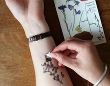 Load image into Gallery viewer, Botanical Flower tattoos by Alice Draws The Line