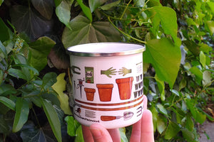 Allotment mug for gardeners by Alice Draws The Line, grow your own coffee cup