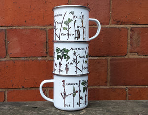 Twig Identification Enamel mug