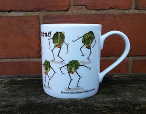 Twist and Sprout Christmas Mug design by Alice Draws The Line, Sprout lover gift