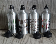 Load image into Gallery viewer, Illustrated water bottles by Alice Draws The Line, botanical water bottles, honey bee water bottles
