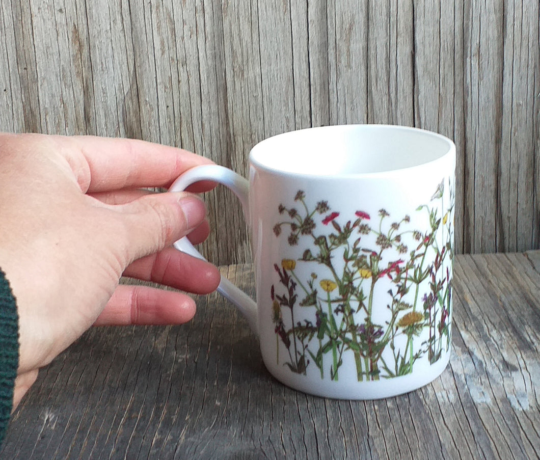 Wildflowers mug by Alice Draws The Line, a celebration of a spring hedgerow