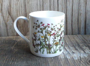 Spring Wildflowers china mug by Alice Draws The Line
