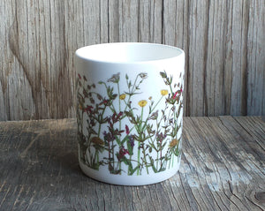 Wildflowers China Mug by Alice Draws the Line, Spring Wildflowers