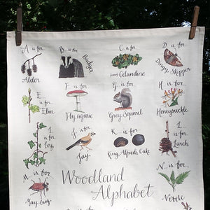 Woodland Alphabet Tea Towel