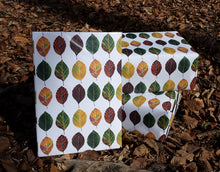 Load image into Gallery viewer, Gift wrap by Alice Draws The Line, recycled beech leaf wrapping paper by Alice Draws The Line