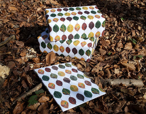 Gift wrap by Alice Draws The Line, recycled beech leaf wrapping paper by Alice Draws The Line