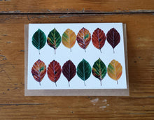 Load image into Gallery viewer, Beech Leaves Greeting card by Alice Draws The Line, fall leaves