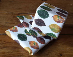 Beech Leaf wrapping paper by Alice Draws The Line