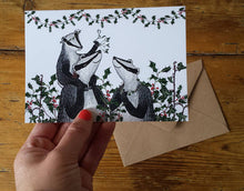 Load image into Gallery viewer, Christmas Badgers Christmas Card