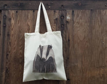 Load image into Gallery viewer, Badger tote bag by Alice Draws the Line, bag for life