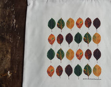 Load image into Gallery viewer, Beech Leaves Autumn tote bag by Alice Draws The Line, 100% recycled, reusable bag. Many designs available including botanical illustrations