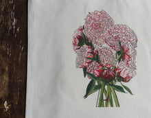 Load image into Gallery viewer, Peony Bouquet tote bag