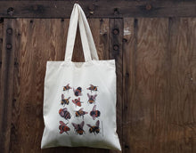 Load image into Gallery viewer, Bee tote bag with bee illustrations by Alice Draws The Line