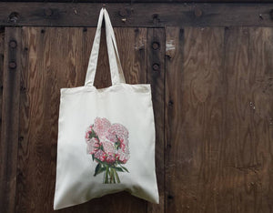 Peony Bouquet tote bag