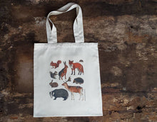 Load image into Gallery viewer, Woodland Animals tote bag