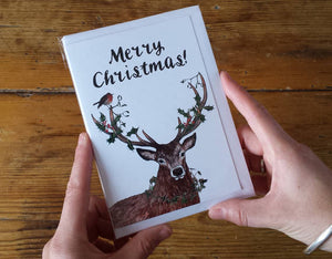 Merry Christmas Deer Christmas Card