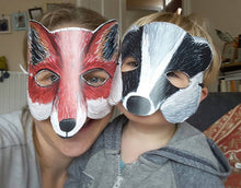 Load image into Gallery viewer, Badger Mask by Alice Draws The Line