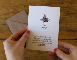 Bee Mine Valentines card by Alice Draws The Line