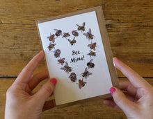 Load image into Gallery viewer, Bee Mine Valentines card by Alice Draws The Line