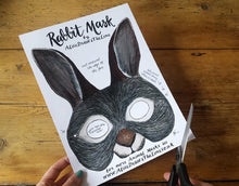 Load image into Gallery viewer, Printable Easter Bunny mask by Alice Draws the Line -an illustrated Rabbit face that you download, print, cut out & wear! children or adults