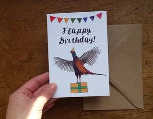 Flappy Birthday Pheasant Greeting Card