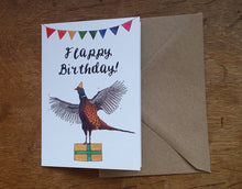 Load image into Gallery viewer, Flappy Birthday Pheasant Greeting Card