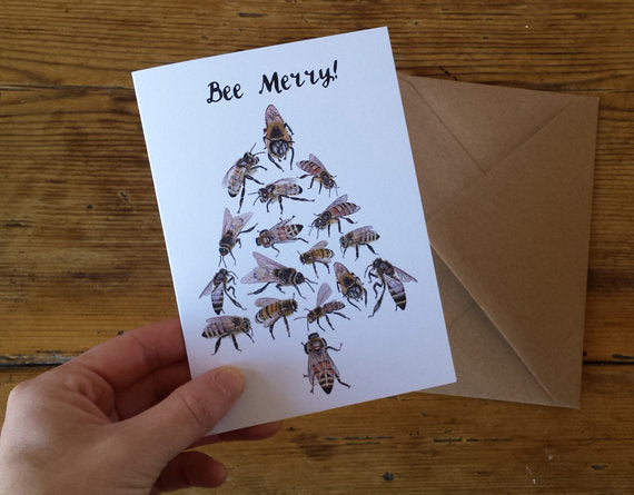 Bee Merry! Christmas Card/s
