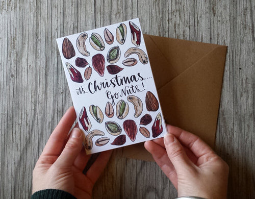 It's Christmas ...Go Nuts! Christmas Card