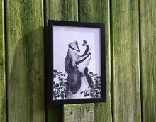 Load image into Gallery viewer, Badgers and Blackberries A4 Print by Alice Draws The Line
