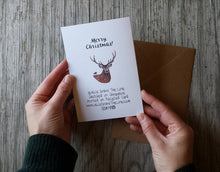 Load image into Gallery viewer, Merry Christmas Deer Christmas Card