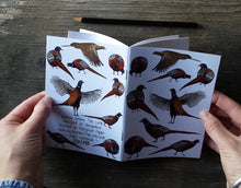 Load image into Gallery viewer, Pheasants Notebook by Alice Draws The Line, recycled paper, A6 paper