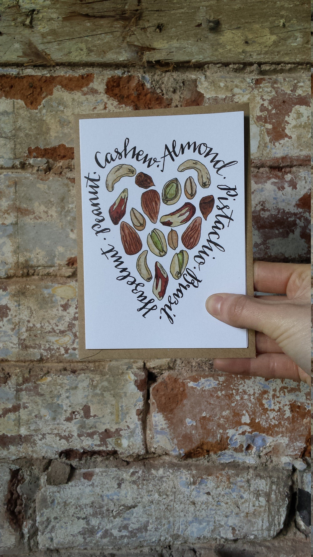 Nuts about You Card by Alice Draws The Line, love card, valentine card, anniversary card,