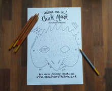 Load image into Gallery viewer, Printable Colour In Chick mask