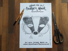 Load image into Gallery viewer, Colour in Badger mask