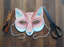 Load image into Gallery viewer, Printable Colour in Fox mask
