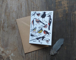 Garden Bird Greeting Card