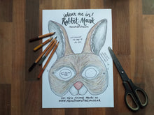 Load image into Gallery viewer, Printable Colour In Rabbit mask
