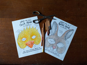 Printable Colour In Rabbit mask