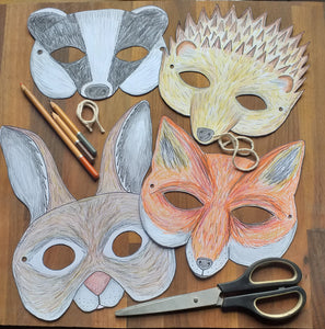 Colour in Badger mask