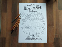 Load image into Gallery viewer, Printable Colour in Hedgehog mask