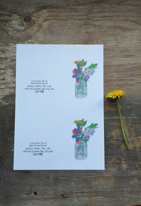 2 Printable posy cards